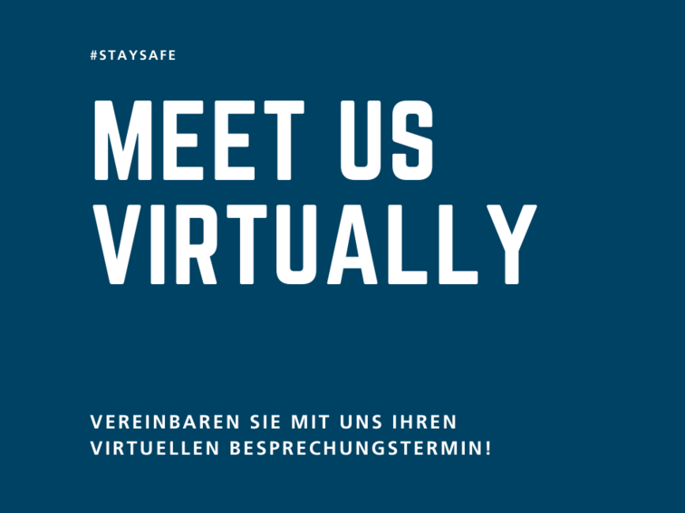 Teaserbild: Meet us virtually