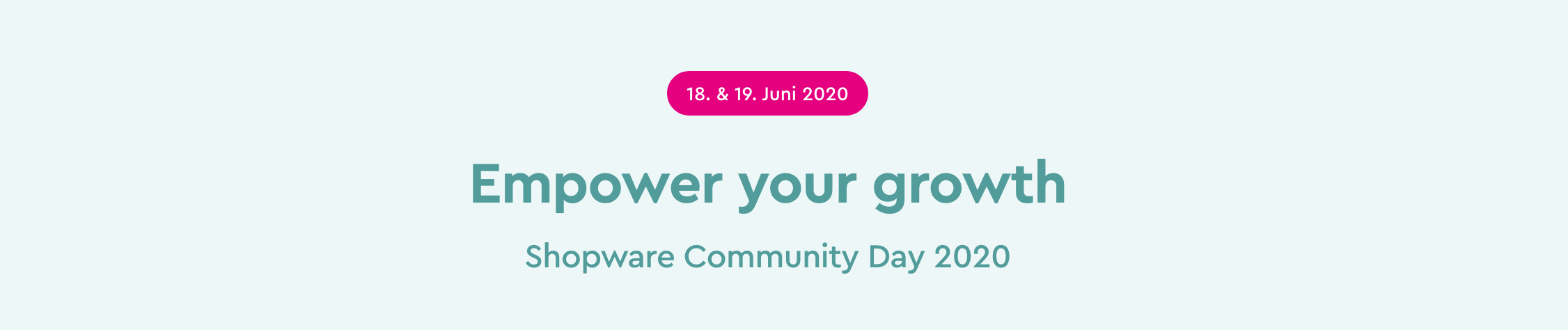 Shopware Community Day 2020 | Empower your growth